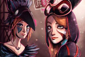 Life Is Strange Ariel And Prospera Wallpaper