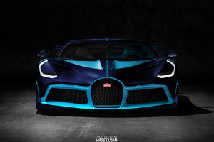 Light And Dark Blue Bugatti Divo