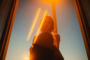 Light Flare Girl 5k Wallpaper