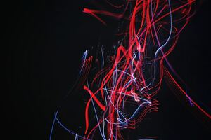 Light Trail Neon Abstract