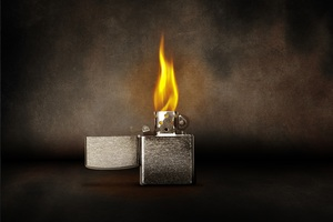 Lighter Flame Burning Wallpaper