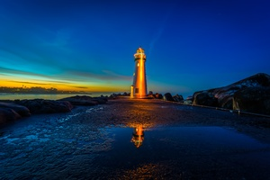 Lighthouses Sunrises And Sunsets USA Monterey Bay 4k Wallpaper