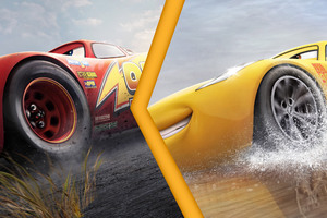 Lightning McQueen Vs Cruz Ramirez Cars 3 4K Wallpaper