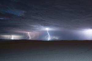 Lightning Over White Sands National Monument Wallpaper