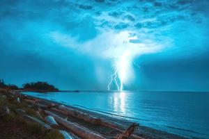 Lightning Storm 5k Wallpaper