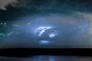Lightning Thunder Storm Long Exposure 4k