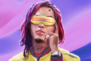 Lil Pump As Cyclops Artwork 5k