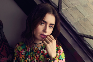 Lily Collins 2021 Wallpaper