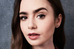 Lily Collins 5k 2019 Wallpaper