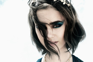 Lily Collins Lancome Summer Swing Phothshoot
