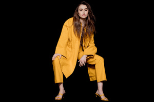 Lily Collins The Observer Photoshoot 12k Wallpaper