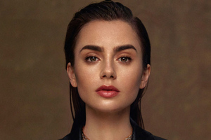 Lily Collins Vogue Arabia 4k Wallpaper