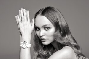 Lily Rose Depp Chanel J12 Watch Campaign Wallpaper