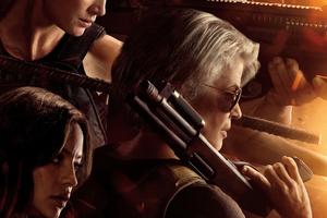 Linda Hamilton In Terminator Dark Fate 4k 2019 Wallpaper