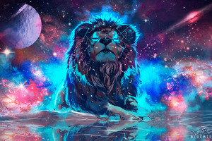 Lion 4k Artistic Colorful