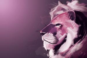 Lion Artwork 4k