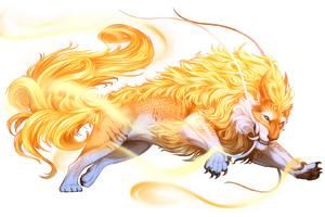 Lion Gold Painting Minimalism