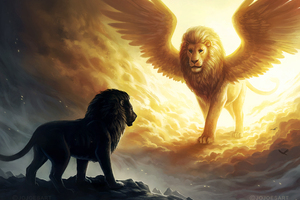 Lion King Spiritual Dark Fantasy Wallpaper