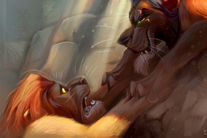 Lion King Vs Lion Digital Art