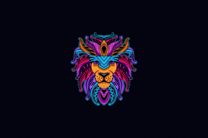 Lion Minimal 4k Wallpaper