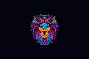 Lion Minimal 4k