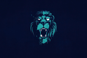 Lion Opening Mouth Illustration 4k Wallpaper