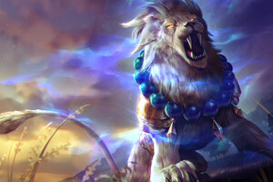 Lion Roar Colorful 4k Fantasy Artwork Wallpaper