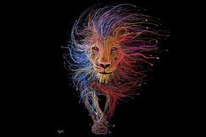 Lion Wires Art
