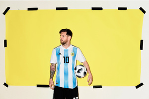 Lionel Messi Argentina Portrait 2018 Wallpaper