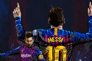 Lionel Messi FC Art Wallpaper