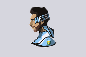 Lionel Messi Minimal 8k Wallpaper