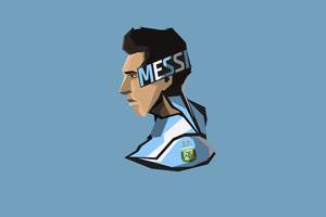 Lionel Messi Minimalism 8k