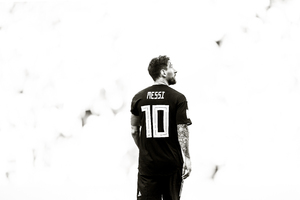 Lionel Messi Monochrome Wallpaper