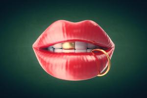 Lip Art 4k Wallpaper