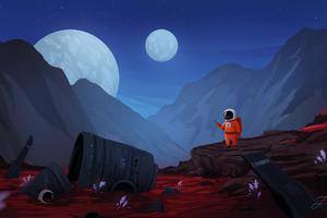 Little Astronaut 4k Wallpaper