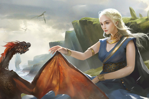 Little Dragon Daenerys Targayen Wallpaper
