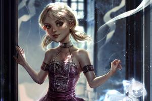Little Girl Dressed Up Digital Art 4k Wallpaper