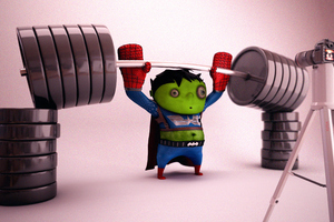 Little Hulk Superhero Workout