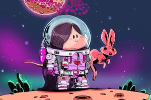 Little Maddy Astronaut 4k