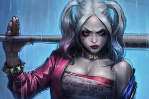 Little Monster Harley Quinn 4k