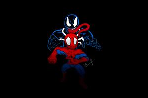 Little Spider Man And Venom