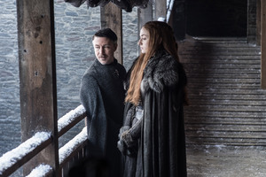Littlefinger And Sansa Stark Game Of Thrones Season 7 Wallpaper