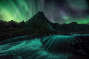 Lofoten Islands Northern Lights 4k Wallpaper