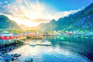 Lofoten Norway Lake