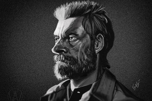 Logan Monochrome Art 8k