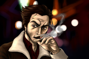 Logan Smoking Wallpaper