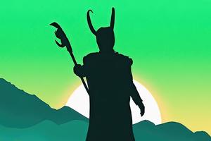 Loki Minimal Art 4k Wallpaper