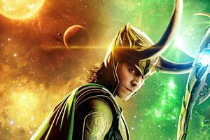 Loki The God Of Mischief Poster 5k Wallpaper