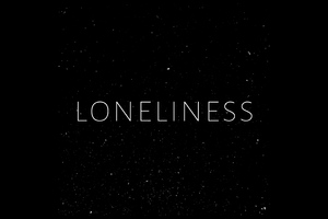 Loneliness Typography 4k Wallpaper