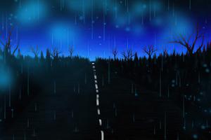 Lonely Blue Road 4k Wallpaper